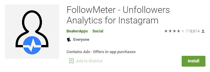 اپلیکیشن حذف فالوور فیک اینستا FollowMeter