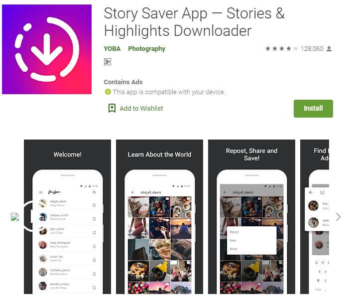 اپلیکیشن Story Saver