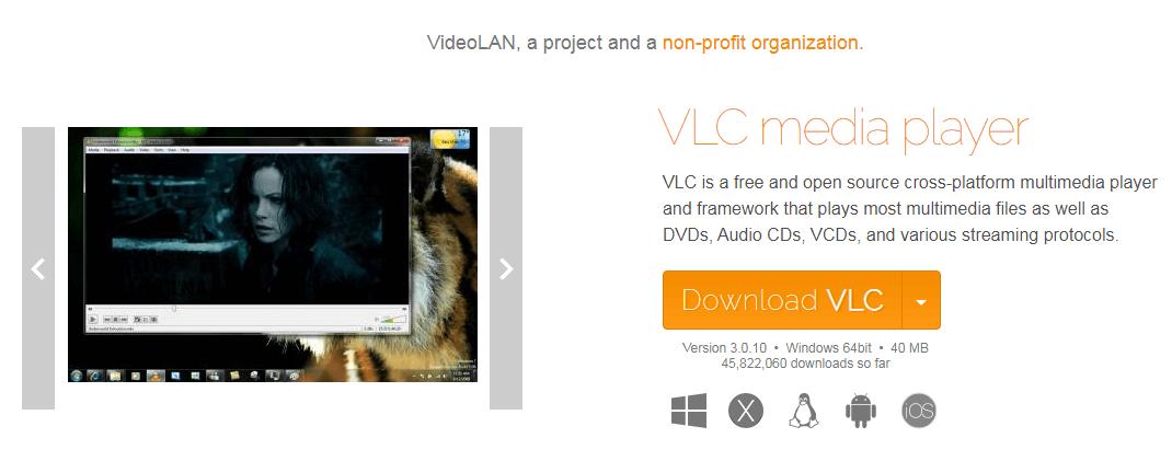 نرم افزار ویدئو پلیر VLC