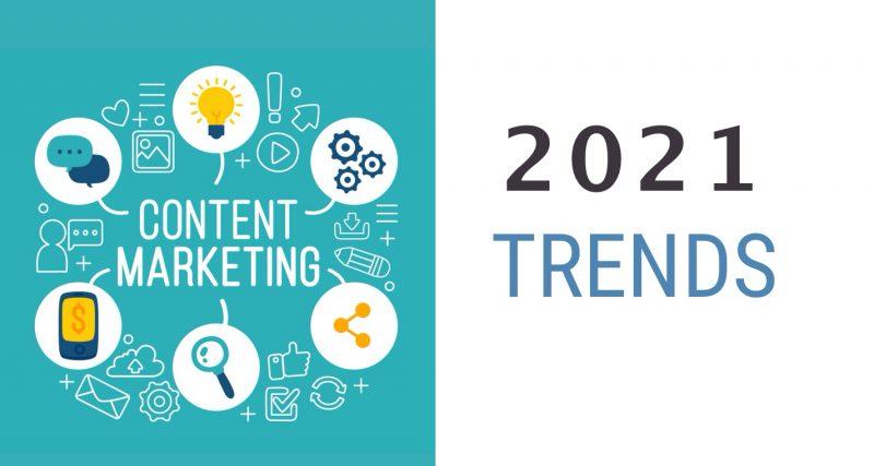 ترندهای بازاریابی محتوا در سال 2021