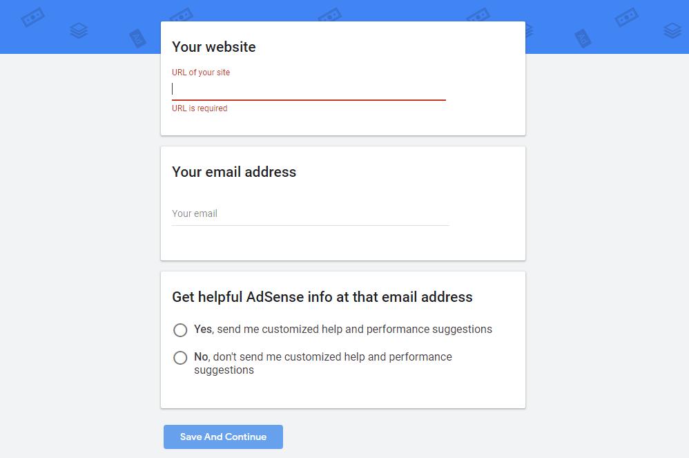 مرحله دوم ثبت نام در گوگل ادسنس