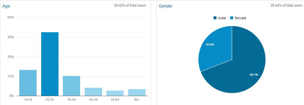 اطلاعات جمعیت شناختی در گوگل آنالیتیکس