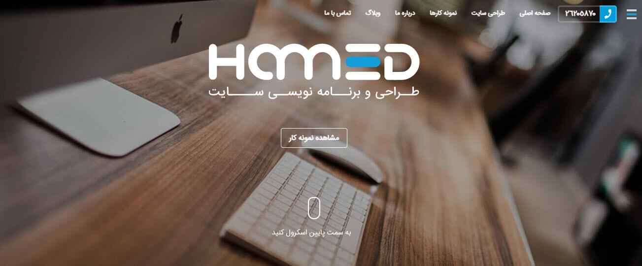 شرکت طراحی سایت حامد