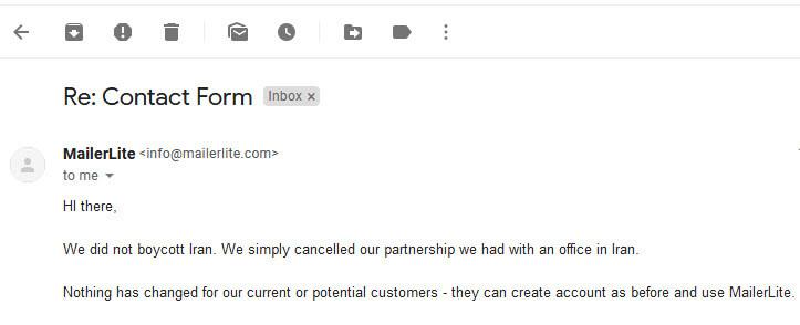 میلرلایت ایمیل