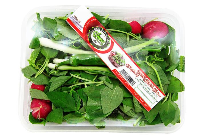 کار در خانه با بسته بندی سبزیجات
